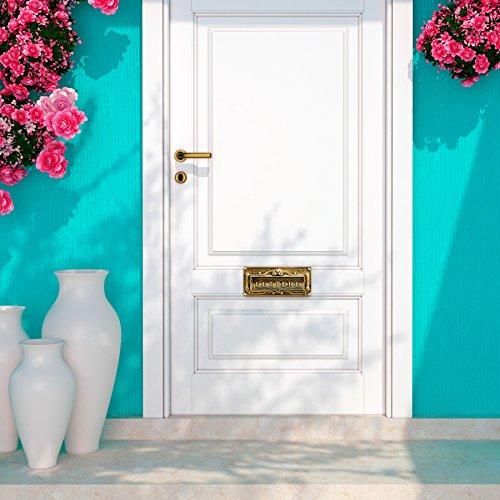 AdirHome Bronze Steel Fabulous Italian Through-Door Mail Slot by AdirHome (Image #2)
