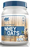 Optimum Nutrition Whey & Oats Protein Powder, Breakfast Or Anytime High Protein and High Fiber Shake, Blueberry Muffin, 14 Servings