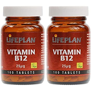 (2 PACK) - Lifeplan Vitamin B12 25Mg Tablets | 100s | 2 PACK - SUPER SAVER - SAVE MONEY