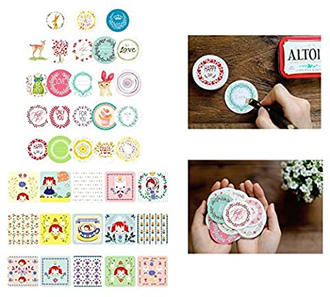 LANGUGU 38 Pack Presents Gift Labels Stickers for Gift Bags, Party Favors, Wedding Welcome Bags, Gift Boxes, Party Favors, Treat Bags, Jars, Cupcake - Price Printed Gift Boxes