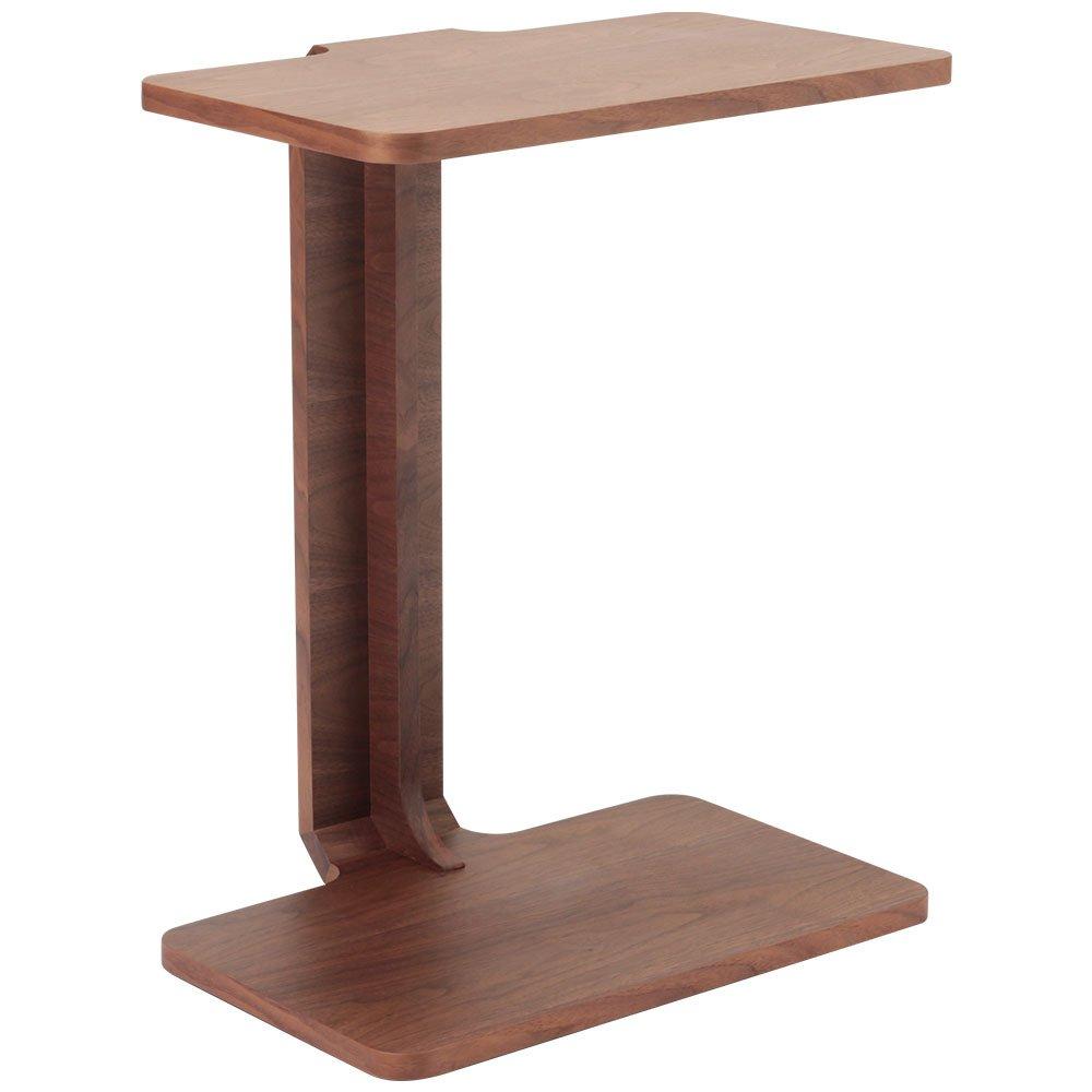 LOWYA (ロウヤ) サイドテーブル 天然木 ワゴン テーブル ベッドテーブル 介護 ウォルナット おしゃれ 新生活 B00MUEMR7S