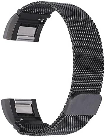 bayite Replacement Bands for Fitbit Charge 2, Stainless Steel Milanese Metal Large Small