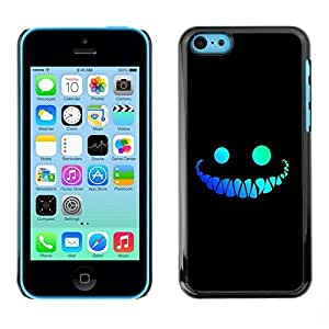 MldieromSmartphone Protective Case Hard Shell Cover for Cellphone Apple Iphone 5C / CECELL Phone case / / Funny Face Smile Evil Teeth Black /