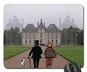 Tintin in Marlinspike Mouse Pad, Mousepad by icecream design