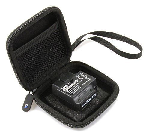AUTOCASE Car and Auto Mini Storage Carry Case Fits BlueDriver Bluetooth Professional OBDII OBD2 Scan Tool for iPhone, iPad & Android