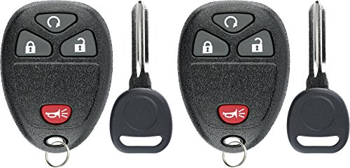 KeylessOption Keyless Entry Remote Car Key Fob Ignition Key for Chevy HHR 06-11 15114374 (Pack of 2)