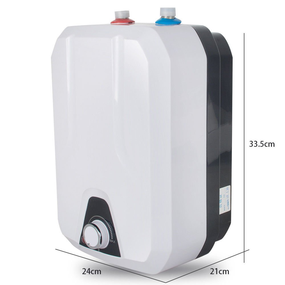 8L Kitchen Huge-Tank Hot Water Electrical Hot Water Tankless 1500W 110V Barbella Electric Hot Water Heater for Kitchen Bathroom Household