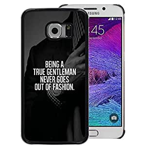 Red-Dwarf Colour Printing Gentleman Fashion Suit Text Smart Advice - cáscara Funda Case Caso de plástico para Samsung Galaxy S6 EDGE SM-G925