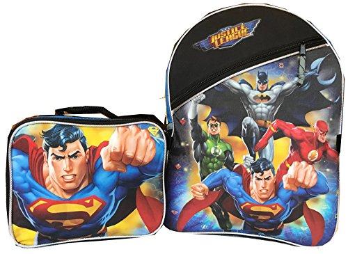Price comparison product image Justice League Superman Backpack Large Bonus Lunchbox Bag Batman