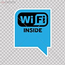 Decals Vinyl Sticker Wi Fi Inside Store Mac Book Laptop Size: 5 X 3.9 Inches Vinyl color print