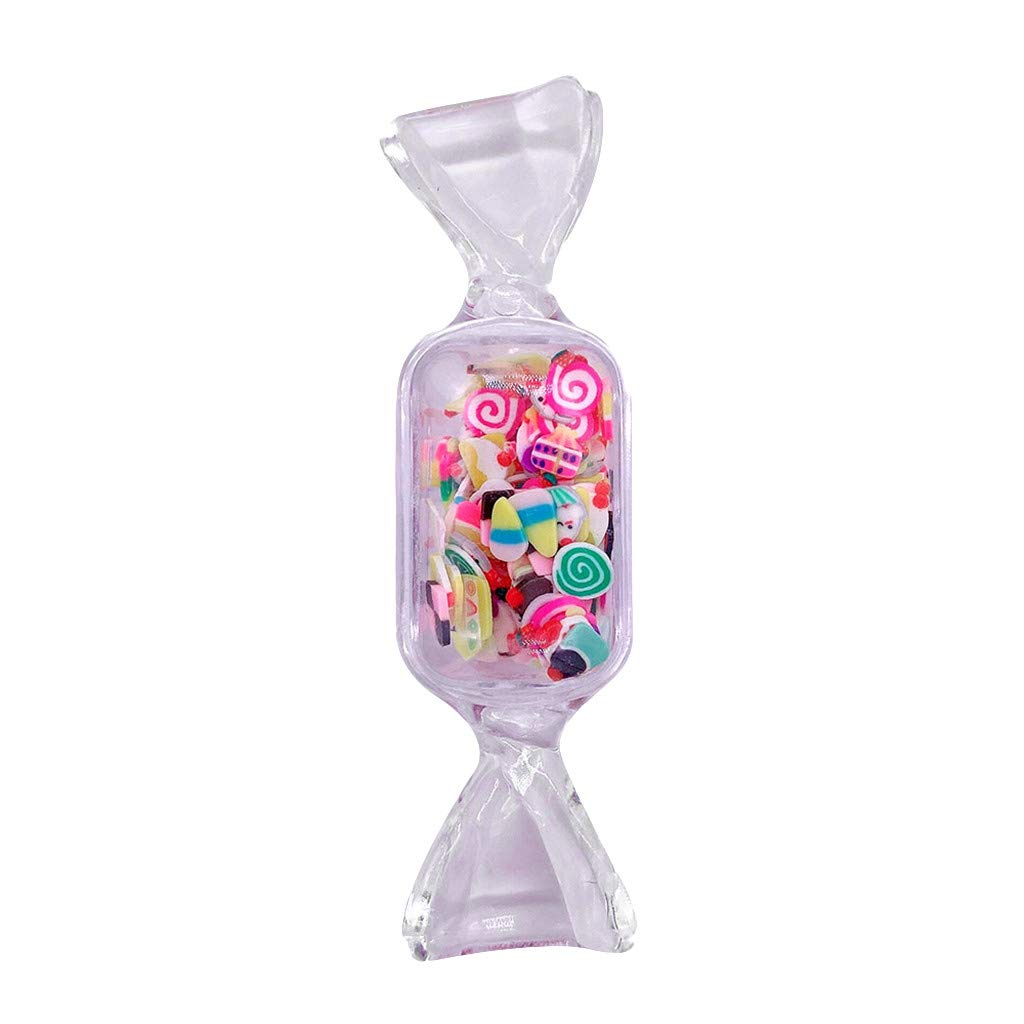 LLguz 4PCS Candy Slime Mud Supplies Kit Decoration for Girls Boys Kids Clay DIY Making Christmas Gift