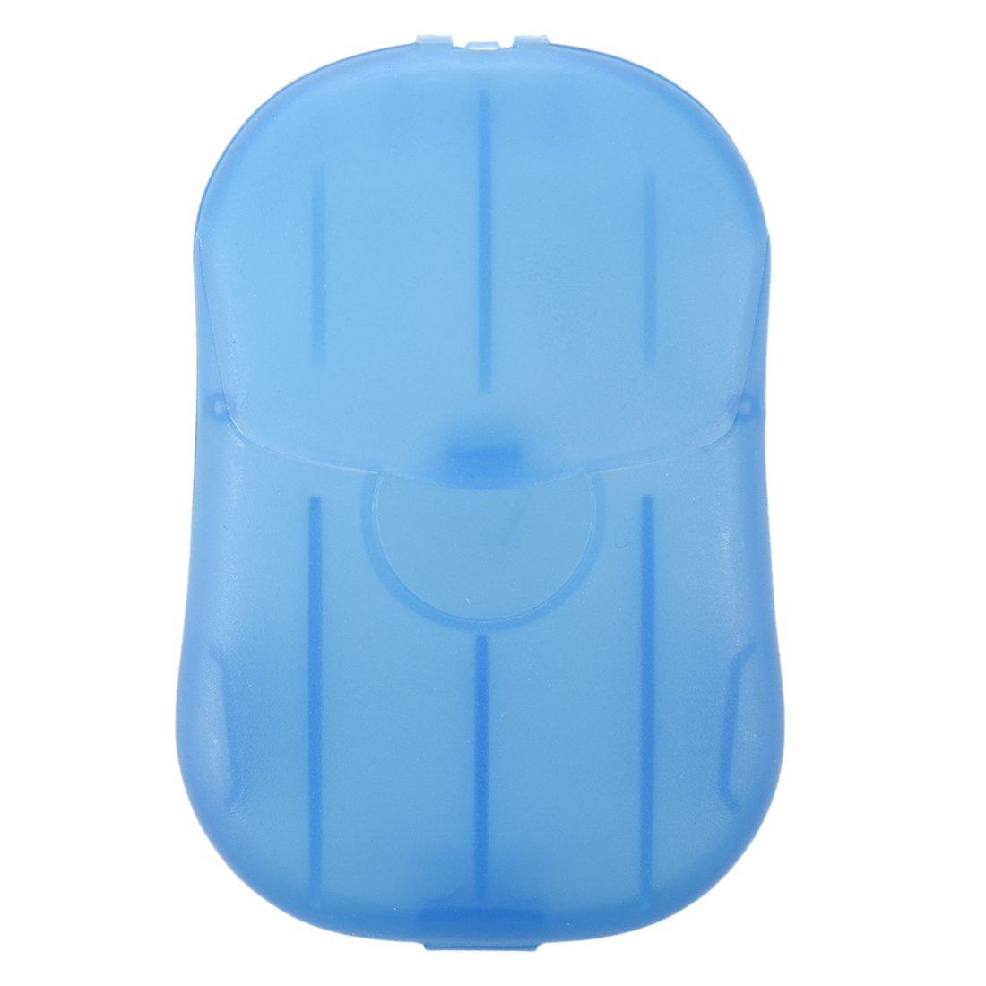 SODIAL(R) 2 cajas Mini lavado de manos Bath Travel perfumadas hojas deslizantes Jabon Espumoso de la caja de papel