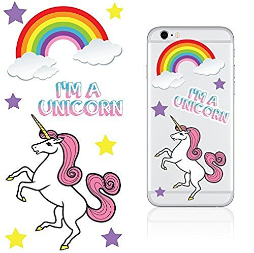 iDecoz Unicorn Reusable Vinyl Decal Sticker Sheet For ALL Cell Phones / Cases / iPhone 7 / 7