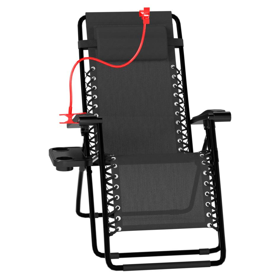 Set of 2 Zero Gravity Outdoor Lounge Chairs w/Cup Holder - the best outdoor recliner for the money