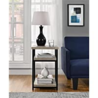 Elmwood End Table Use the 2 Lower Shelves for Your Remote or to Keep Books and Magazines in One Handy Space