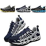 Running Hiking Training Shoes Sneakers - 2017 New Collcetion for Men Tennis Outdoor Jogging shoes (11-11.5, Dark Blue)