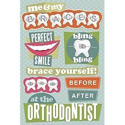 Karen Foster Design Acid and Lignin Free Scrapbooking Sticker Sheet, Orthodontist
