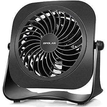 Amazon Com Opolar 4 Inch Mini Usb Desk Fan 2 Speeds