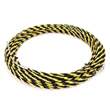 uxcell 82 Feet (25M) Polyester Fish Tape Dia 0.24in (6mm) Electrical Wire Threader Cable Running Rods Fish Tape Pulling