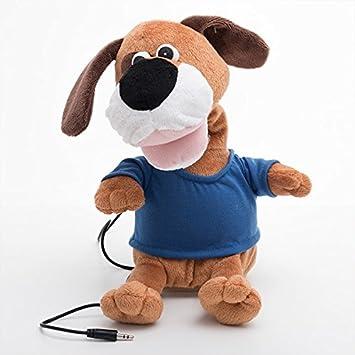 Desconocido Perro de peluche bailando con altavoz | Peluche interactivo - teléfono y reproductor de MP3