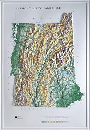 Relief Map Of Texas.Vermont New Hampshire Combined Raised Relief Map Raven Style With