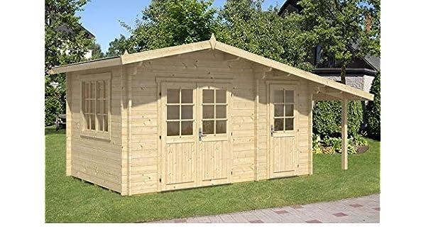 Alpholz Utrecht-44 ISO - Caseta de jardín (44 mm de Grosor, 448 x 298 cm): Amazon.es: Jardín
