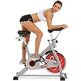 ANCHEER Indoor Cycling Bike, Belt Drive Spin Bike With 49 LBS Flywheel