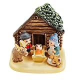 Ten Thousand Villages Handmade Ceramic Nativity 'Log Cabin Nativity'