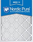 nordic pure 16x25x1 merv 12 pleated ac furnace air filter box of 6