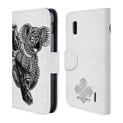 official-bioworkz-ornate-koala-wildlife-leather-book-wallet-case-cover-for-lg-nexus-4-e960
