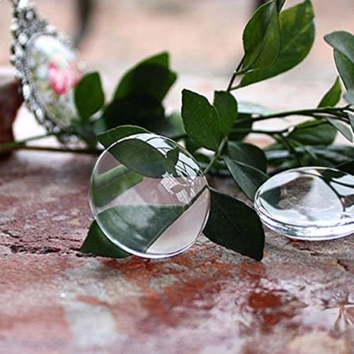 Gozebra(TM) 1 Inch Round Bottle Cap Stickers Crystal Clear Epoxy Adhesive Circles 3D 100pcs