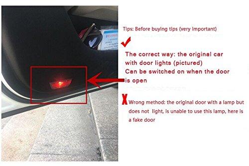Znystar 2/pcs de voiture lampe LED du lampe de porte Ghost Ombre Bienvenue lumi/ère