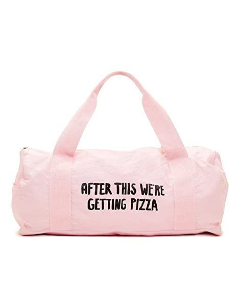 Amazon.com  Bando Women s Work It Out Gym Bag (After This We re Getting  Pizza)  Sports   Outdoors b2bb6bce13fcf