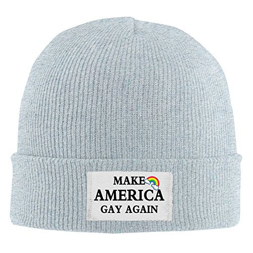 Make America Gay Again Acrylic Beanie Knit Hat Ash