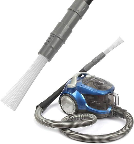 Ambout - Aspirador para aspirador de coche, cabezal multi tubos, cepillo para polvo para coche, cepillo multi tubos, accesorio asiprador con 30 tubos 18 * 7 * 4.5CM gris: Amazon.es: Hogar