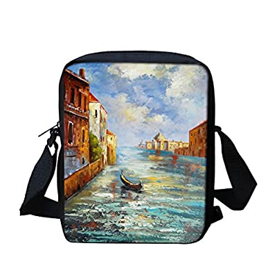 596dedcab7 on sale Scenery Painting Custom Messenger Bag for School Boy Kids Satchel  Bag for Travel