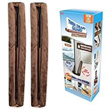 Twin Draft Guard ULTIMATE – SET of 2 - NEW FALL 2017 – As Seen On TV - the Double-Sided Insulator with a Water Repellent, Microfleece Cover