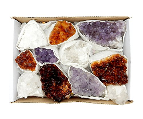 Citrine Rock (Amethyst Citrine And Crystal Cluster Flat Box w/ Exclusive Rock Paradise COA)