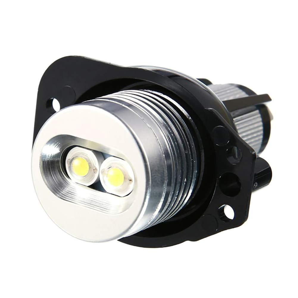 Semine 2 fari a LED da 20 W Lampadine ad Anello Halo Angel Eye per BMW E90 E91 05-08