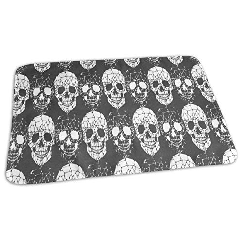 Changing Pad Abstract Gothic Skull Baby Diaper Incontinence Pad Mat Cool Toddler Children Pee Pads Sheet for Any Places for Home Travel Bed Play Stroller Crib Car