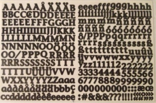 Mini ABC/123 Stickers: Ebony Classy ()