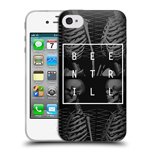 Official Been Trill Human Skeleton 2 3D Scans Soft Gel Case for Apple iPhone 4 / 4S