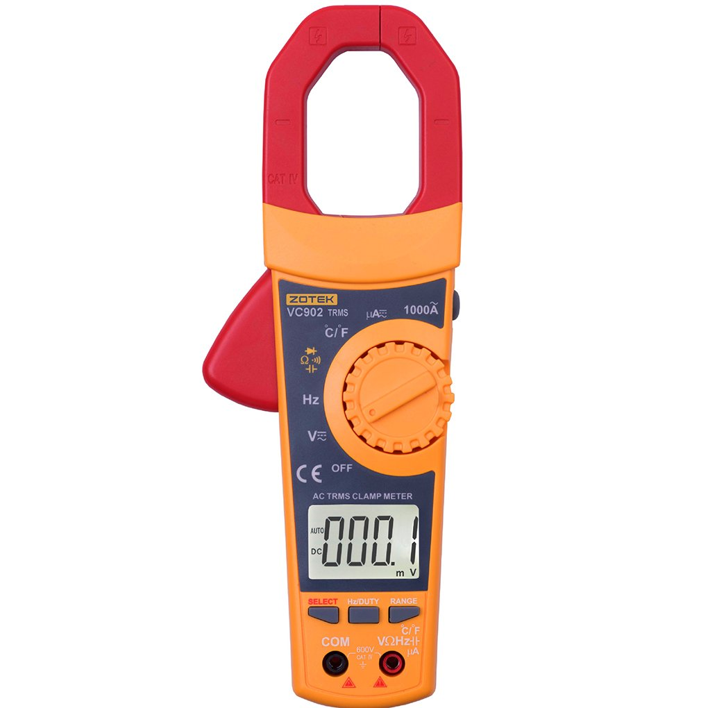 M-Egal VC902 6000 COUNTS Range Digital Clamp Multimeter AC DC 1000A Current Voltage Frequency Tester