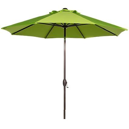 Bon Abba Patio 9 Feet Patio Umbrella Market Outdoor Table Umbrella With Auto  Tilt And Crank,