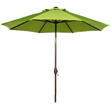 Amazon Com Abba Patio 9 Feet Patio Umbrella Market Outdoor Table