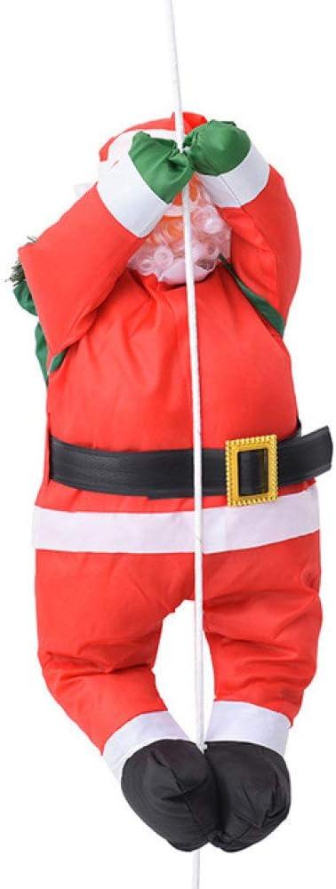 AXIANNV Escultura Colgante de Navidad Papá Noel Colgante Muñeca Escalera Cuerda Escalada Decoración de árbol de Año Nuevo Decoración para el hogar Tipo Cuerda