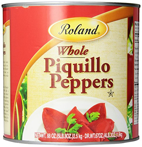 Roland Piquillo Peppers, Whole, 88 Ounce