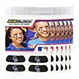 (24 Strips) Eye Black - Colorado Rockies MLB Eye Black Anti Glare Strips, Great for Fans & Athletes on Game Day