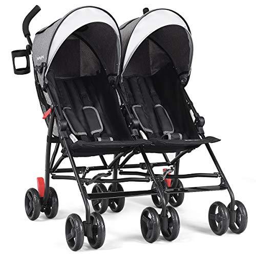 BABY JOY Double Light-Weight Stroller, Travel Foldable Desig
