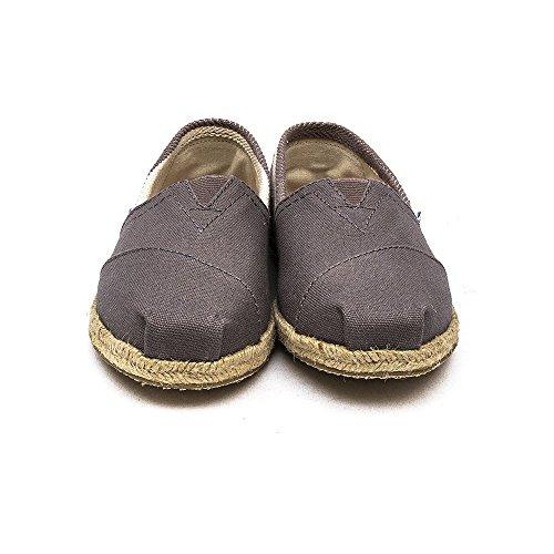 negro talla 1019B09R Canvas 5 mujer color Dark Grey Toms Stripe Rope Sole Zapatos para 38 qRxR80En